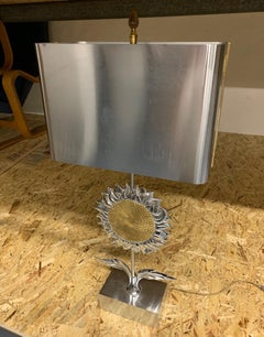 Very Rare Sunflower Table Lamp by Maison Charles
