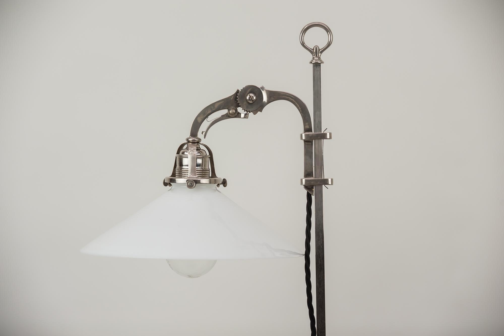 Sehr seltene schwenkbare art deco lampe wien er jahre im
