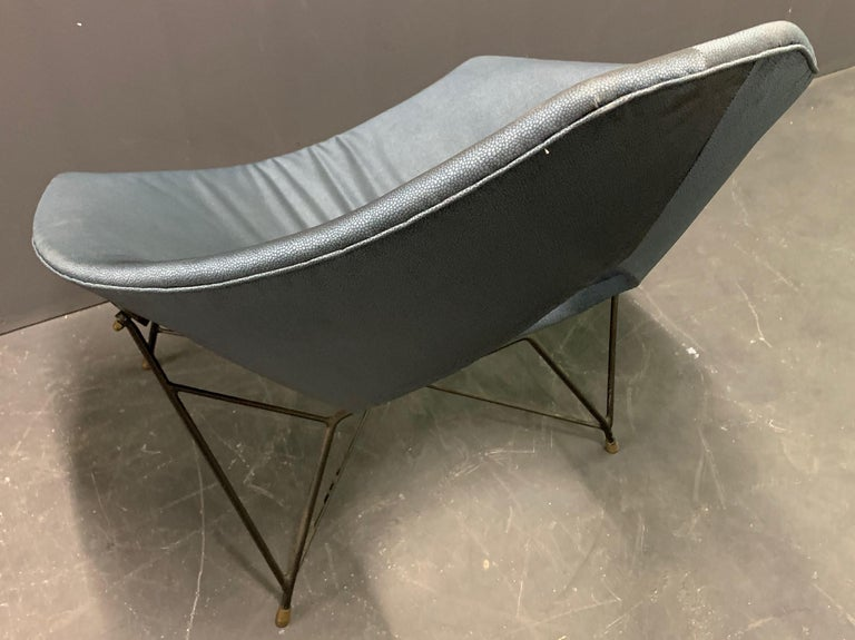 Mid-Century Modern Very Rare Variation of the Famous Cosmos Chair by Augusto Bozzi For Sale