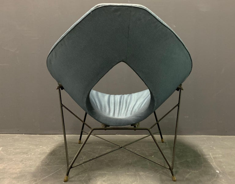 Very Rare Variation of the Famous Cosmos Chair by Augusto Bozzi In Good Condition For Sale In Munich, DE