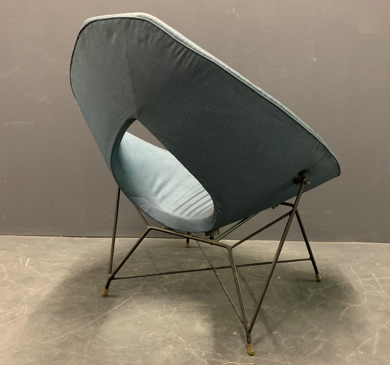 Mid-20th Century Very Rare Variation of the Famous Cosmos Chair by Augusto Bozzi For Sale