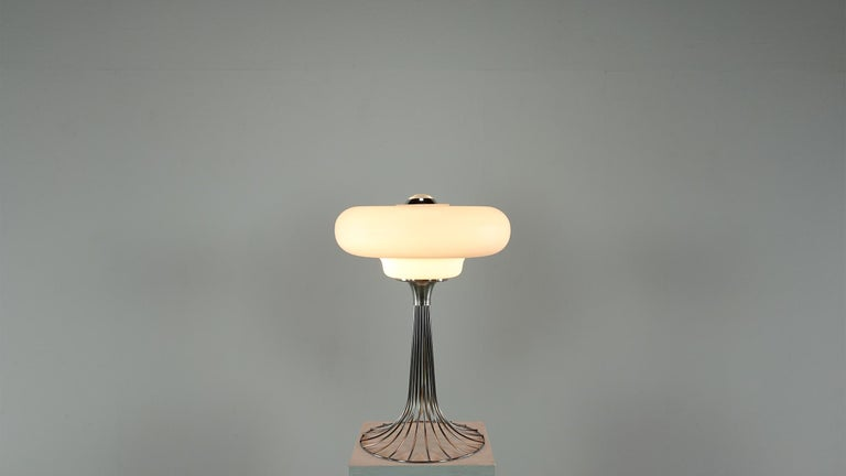 Very Rare Verner Panton Wire Floor and Table Lamp for Fritz Hansen For Sale 4