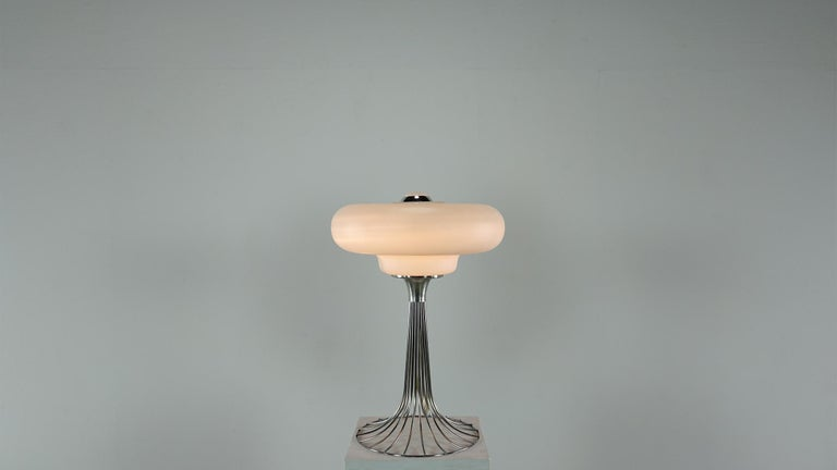 Very Rare Verner Panton Wire Floor and Table Lamp for Fritz Hansen For Sale 6