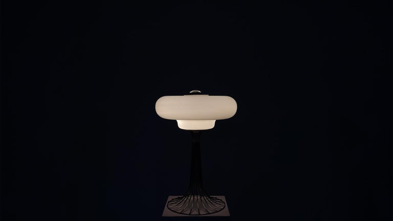 Mid-Century Modern Very Rare Verner Panton Wire Floor and Table Lamp for Fritz Hansen For Sale