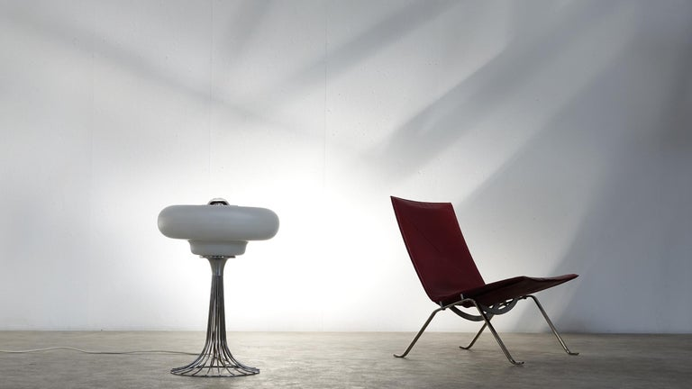 Late 20th Century Very Rare Verner Panton Wire Floor and Table Lamp for Fritz Hansen For Sale