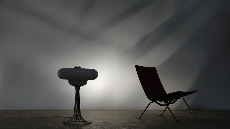 Chrome Very Rare Verner Panton Wire Floor and Table Lamp for Fritz Hansen For Sale