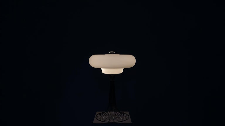 Very Rare Verner Panton Wire Floor and Table Lamp for Fritz Hansen For Sale 1