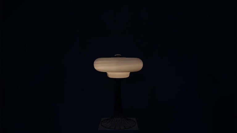 Very Rare Verner Panton Wire Floor and Table Lamp for Fritz Hansen For Sale 2