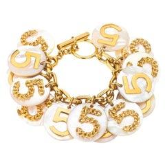 Very Rare Vintage Chanel No.5 Motif Bracelet