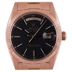 Very Rare Vintage Rolex Red Gold Day-Date Black Dial 1803