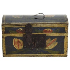 Very Small French 19th Century Folk Art Wedding Box