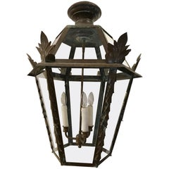 Very Special Antique French Copper Lantern