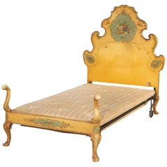 Very Stylish Early 20th Century Single Bed with a Rococo Headboard