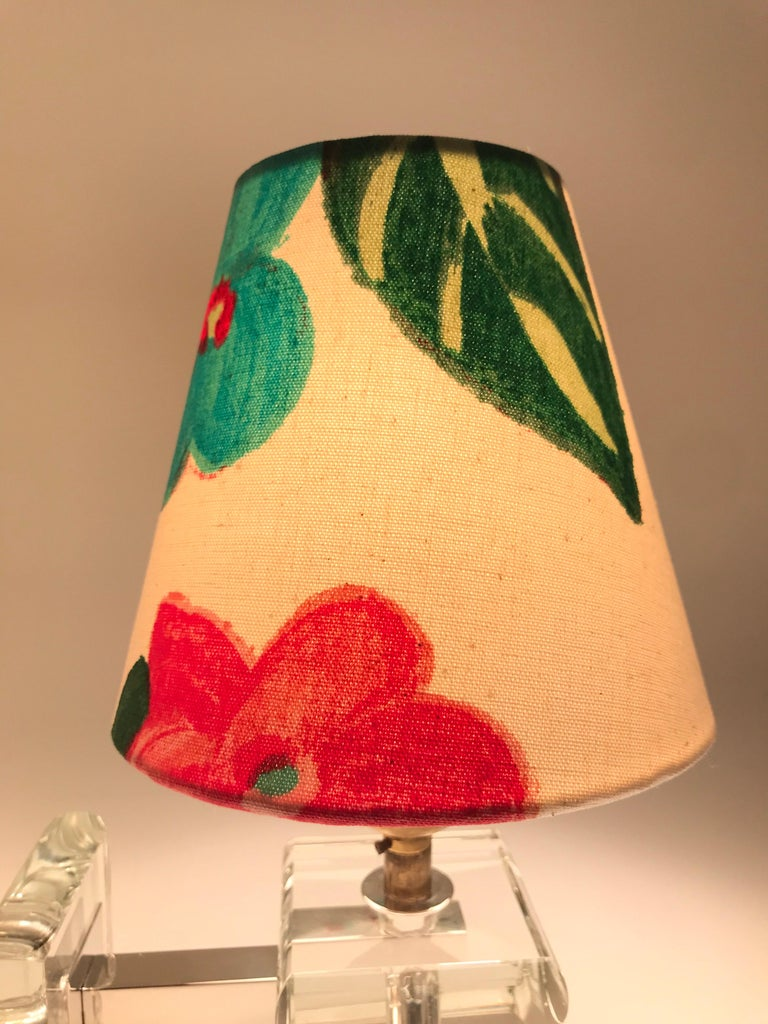 Very Stylish French Art Deco Table Lamp in Glass For Sale 5