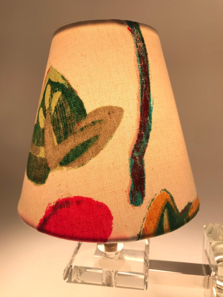 Very Stylish French Art Deco Table Lamp in Glass For Sale 6