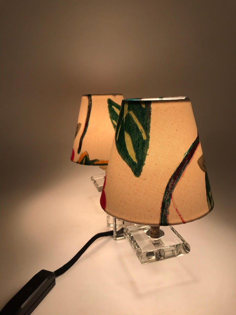 Very Stylish French Art Deco Table Lamp in Glass For Sale 7