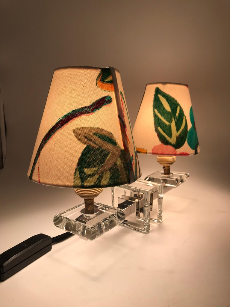 Very Stylish French Art Deco Table Lamp in Glass For Sale 8