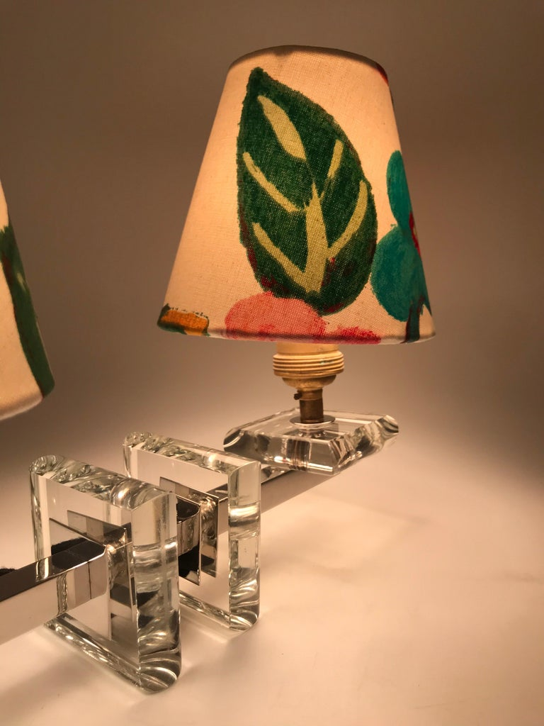 Very Stylish French Art Deco Table Lamp in Glass For Sale 9