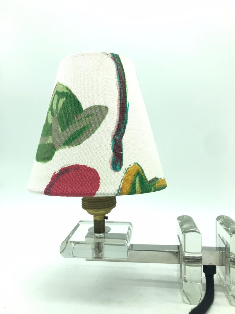 Very Stylish French Art Deco Table Lamp in Glass In Good Condition For Sale In Søborg, DK