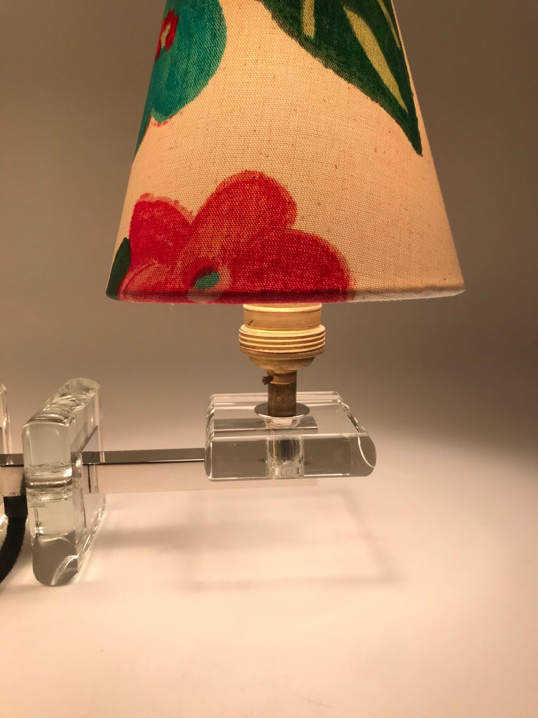 Very Stylish French Art Deco Table Lamp in Glass For Sale 3