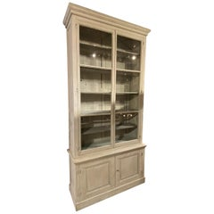 Very Tall Antique French Two Part Bookcase