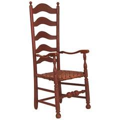 Very Tall Five-Slat Ladderback Armchair