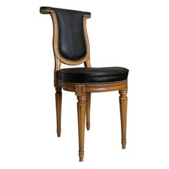 Very Unusual Antique Swedish Study Chairs, Signed by Well-Known Carpenter Sylven