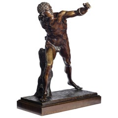 Very Well Cast 19th Century Bronze of a Gladiator