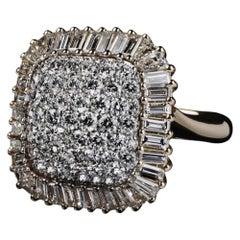 Veschetti 18 Karat Yellow Gold Diamond Cocktail Ring