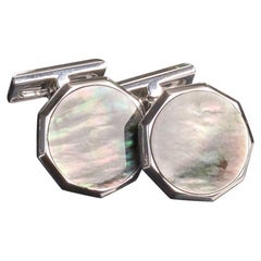Veschetti 18 Karat Yellow Gold Onyx Cufflinks