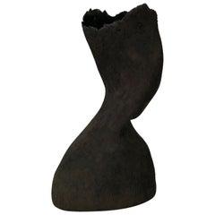 Vessel No 1 Handmade Black Stoneware Sculpture