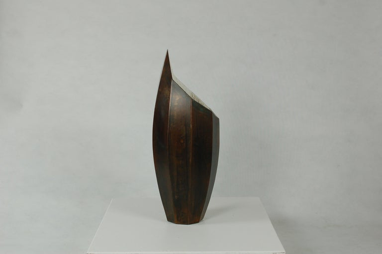 American Vessel No. 1, Steel Sculptural Vessel by Topher Gent For Sale