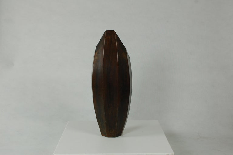 Welded Vessel No. 1, Steel Sculptural Vessel by Topher Gent For Sale