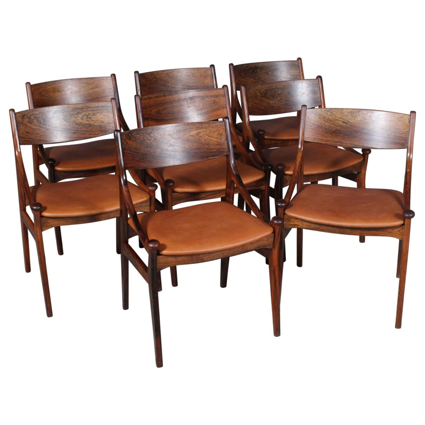 Vestervig Eriksen, Set of Eight Dining Chairs