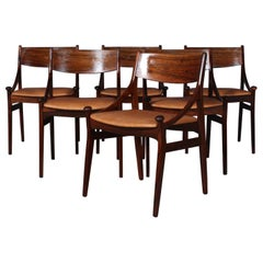 Vestervig Eriksen, Set of Six Dining Chairs