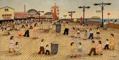 """Coney Island Boardwalk, Brooklyn, New York"" Vestie Davis, Self-Taught Folk Art"