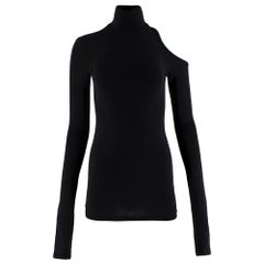 Vetements Black Cotton blend Turtleneck Cut-out Top M