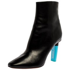 Vetements Black Leather Ankle Boots Size 39