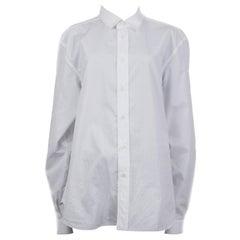 VETEMENTS + BRIONI white cotton OVERSIZED STRIPED Button-Up Shirt S