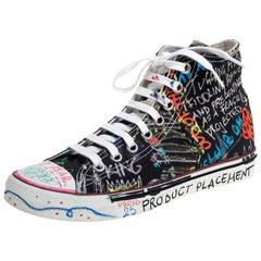 Vetements Multicolor Top High Graffiti Sneakers Size 39