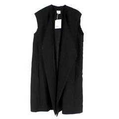 Vetements Raw-Edge Sleeveless Wool Coat US 4