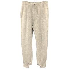 VETEMENTS Size L Light Gray Cotton / Elastane Drawstring Sweatpants
