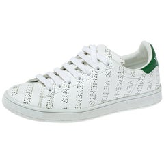Vetements White Perforated Leather Low Top Sneakers Size 35