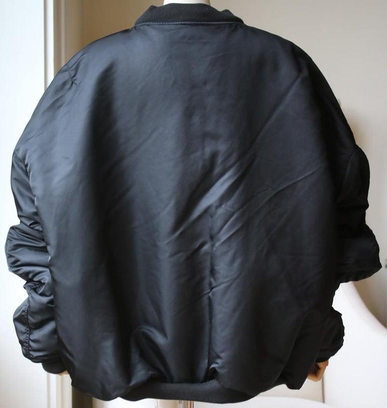 Women's or Men's Vetements X Alpha Industries Angel Oversized Bomber Jacket For Sale
