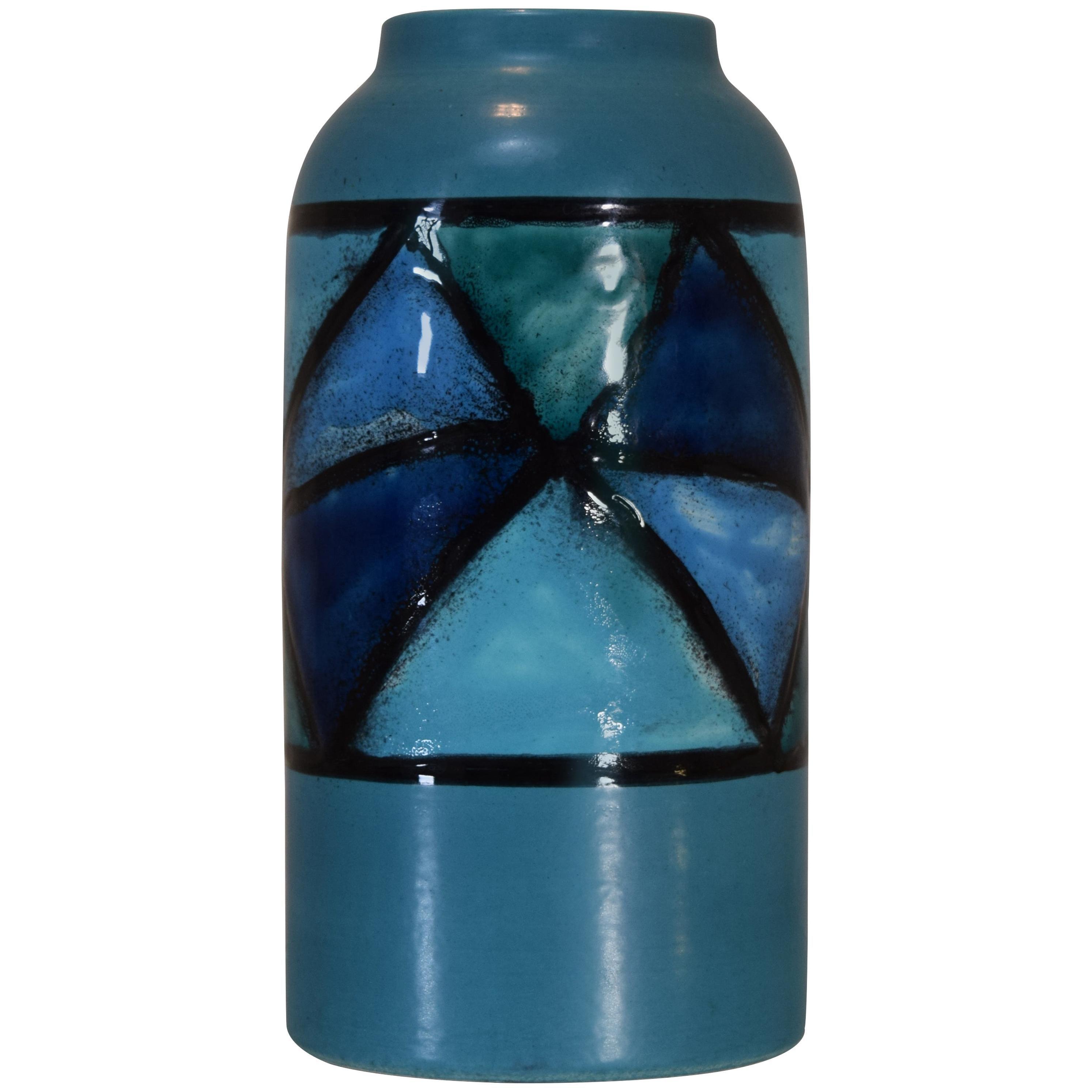 Vetrata Series Vase by Aldo Londi Bitossi