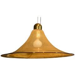 Vetreria Vistosi Golden Glass Pendant