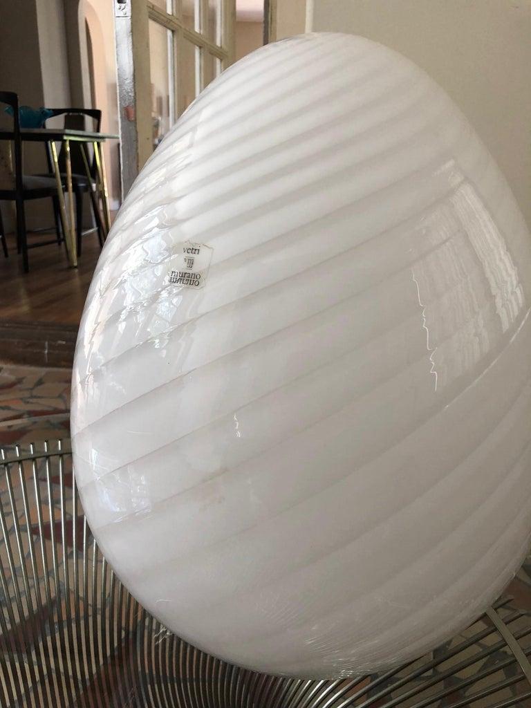 Modern Vetri Murano Egg Lamp For Sale