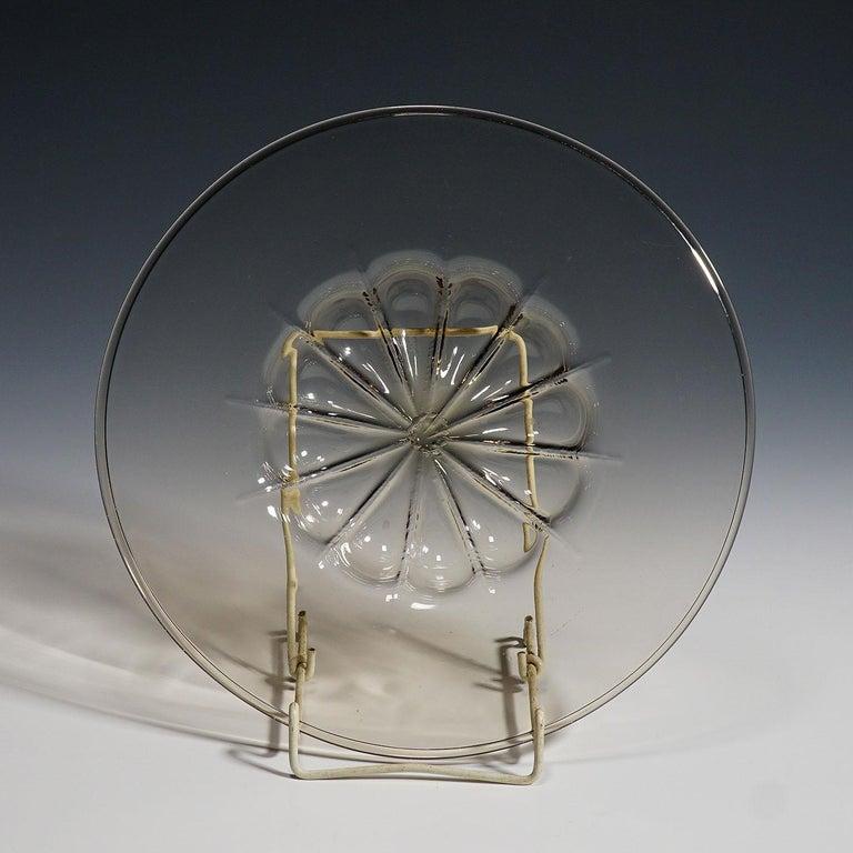 Mid-Century Modern Vetro Soffiato Glass Plate by Vittorio Zecchin for Venini Murano, circa 1925 For Sale