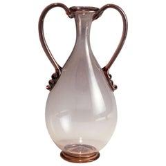 Vetro Soffiato Glass Vase by Vittorio Zecchin for Venini Murano, circa 1925