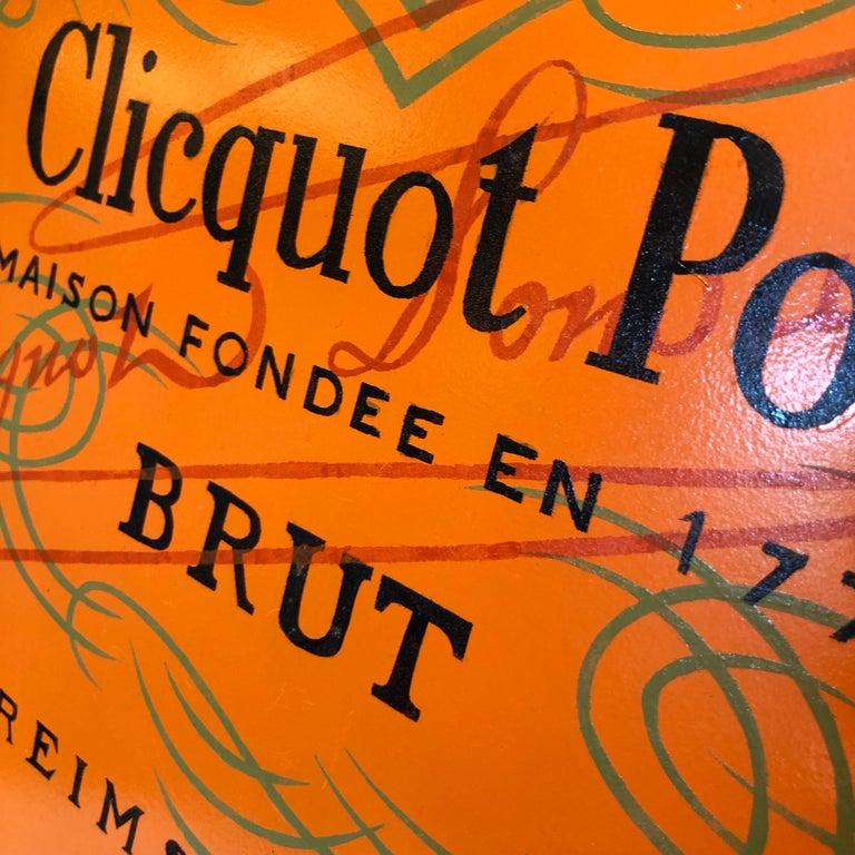 Veuve Clicquot Champagne Label Ovular Tole Tray For Sale 1